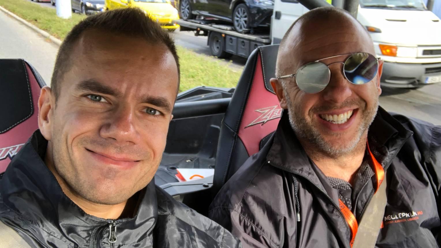 Rallycross élmény terepen 2-en az Autóquaddal csapatva, osztható vezetés