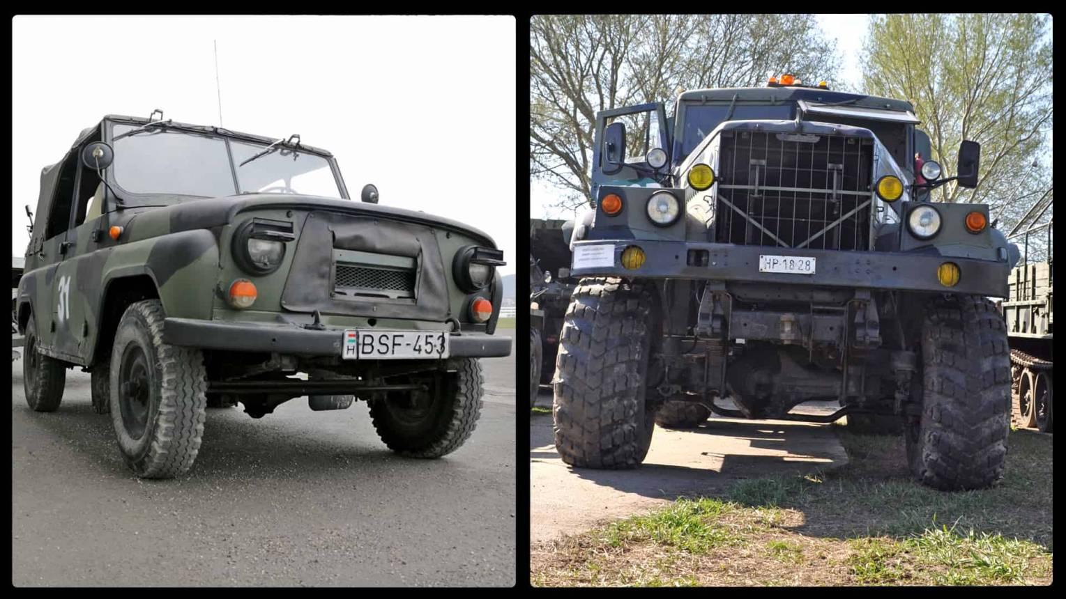 UAZ és KRAZ katonai jármű vezetés