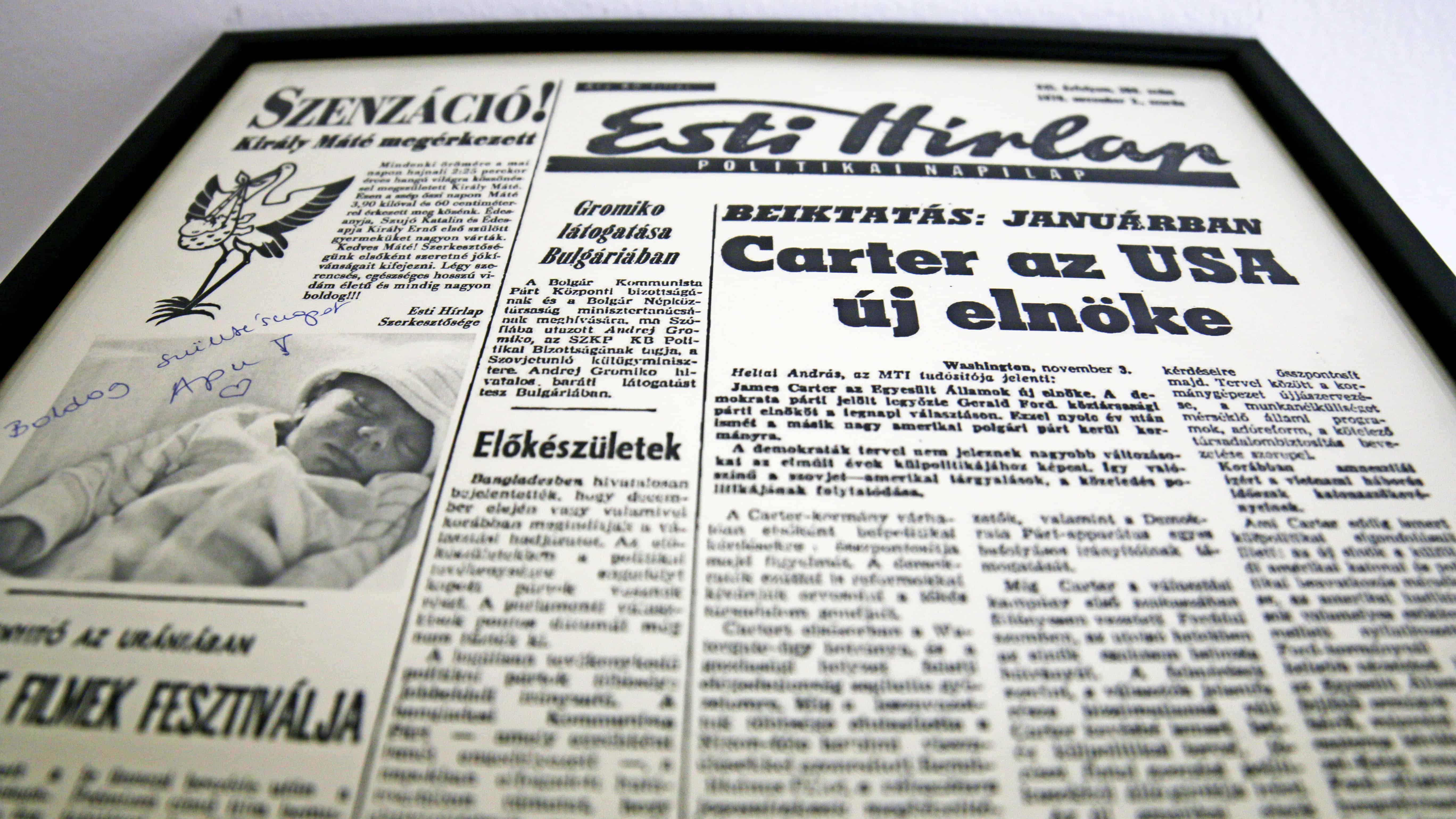 Születésnapi címlap keretben egy cikkel az ünnepeltről