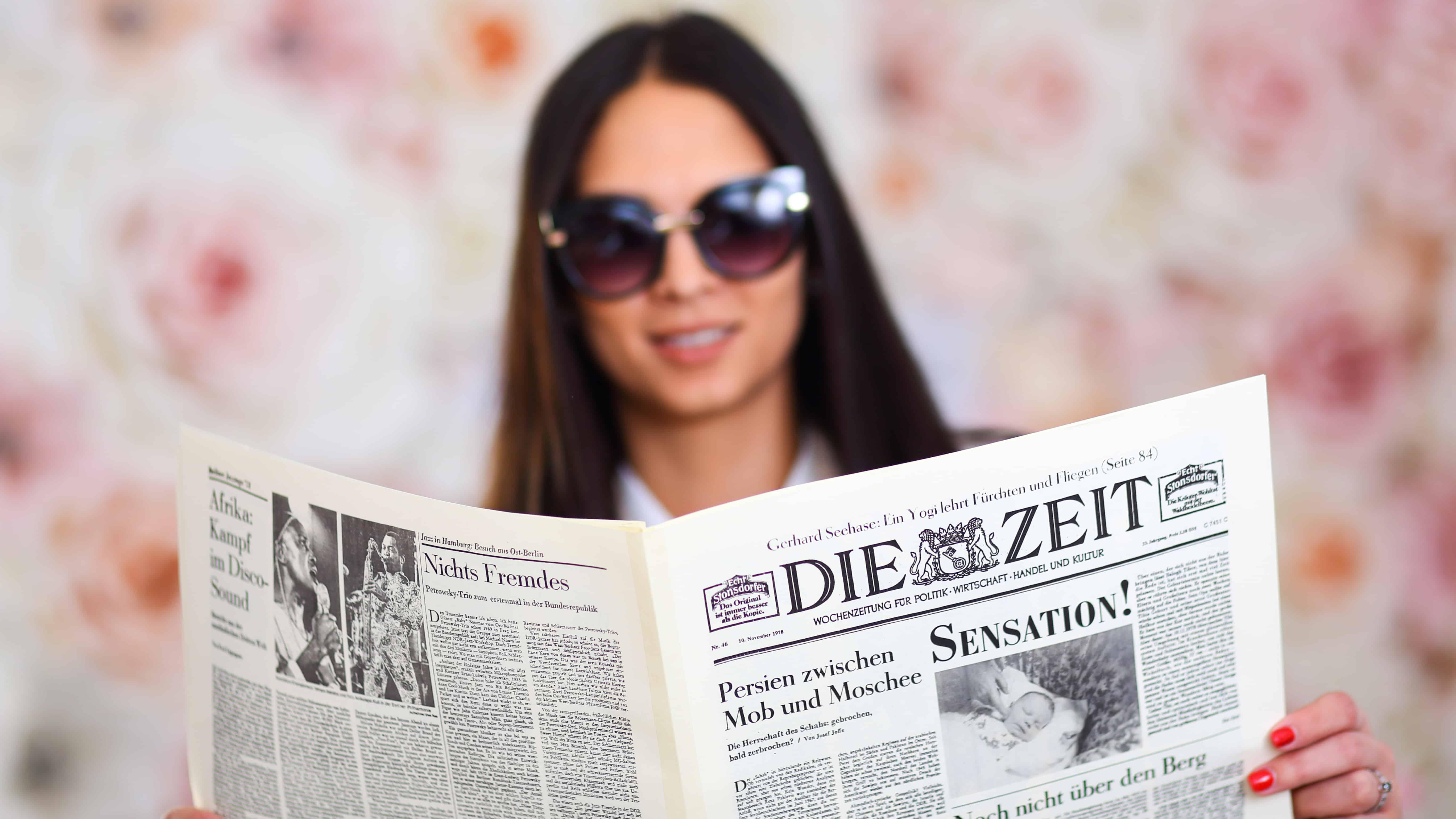 12 oldalas születésnapi újság NÉMET nyelven