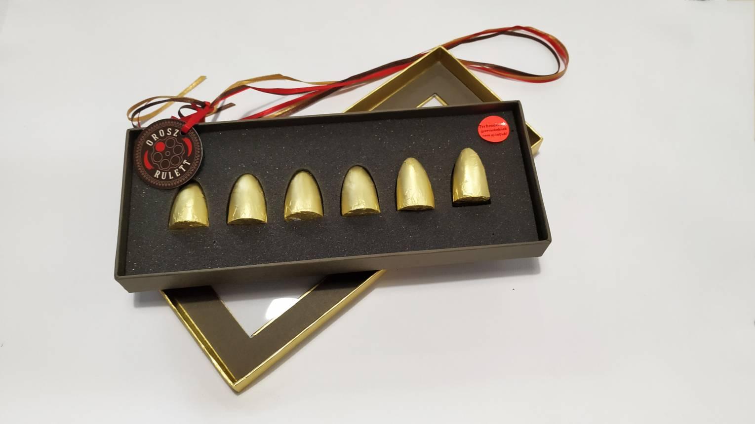 Orosz-rulett csokoládé, az egyik töltény nagyon csííííííííp