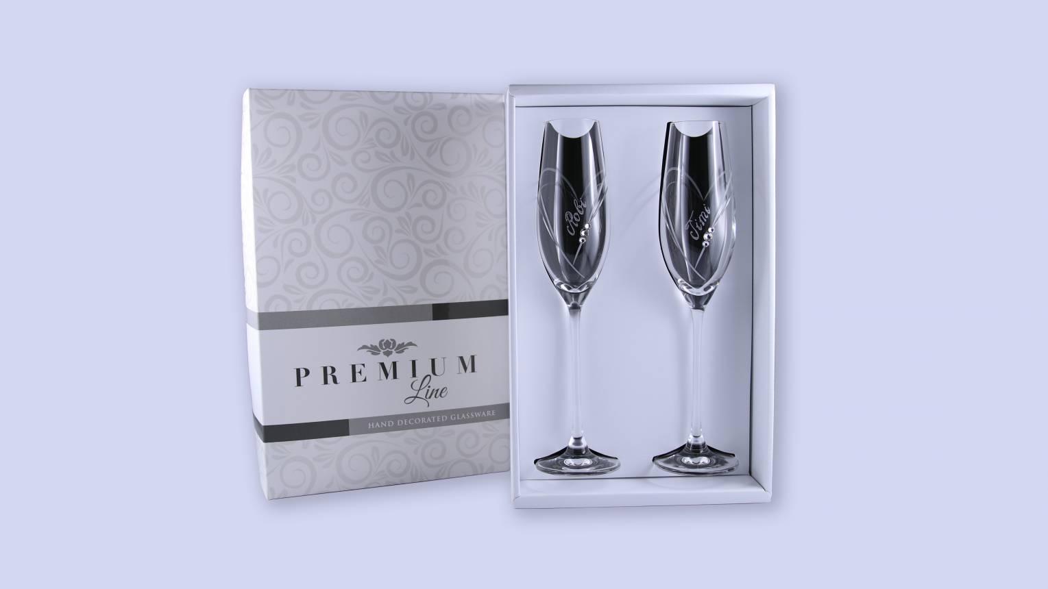 Swarovski pezsgős pohár évfordulóra