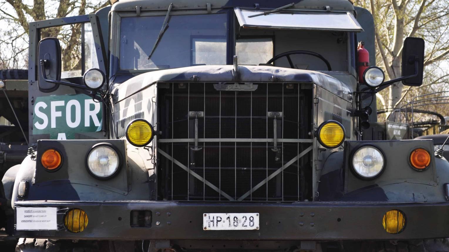 KRAZ katonai teherautó vezetés Gyálon