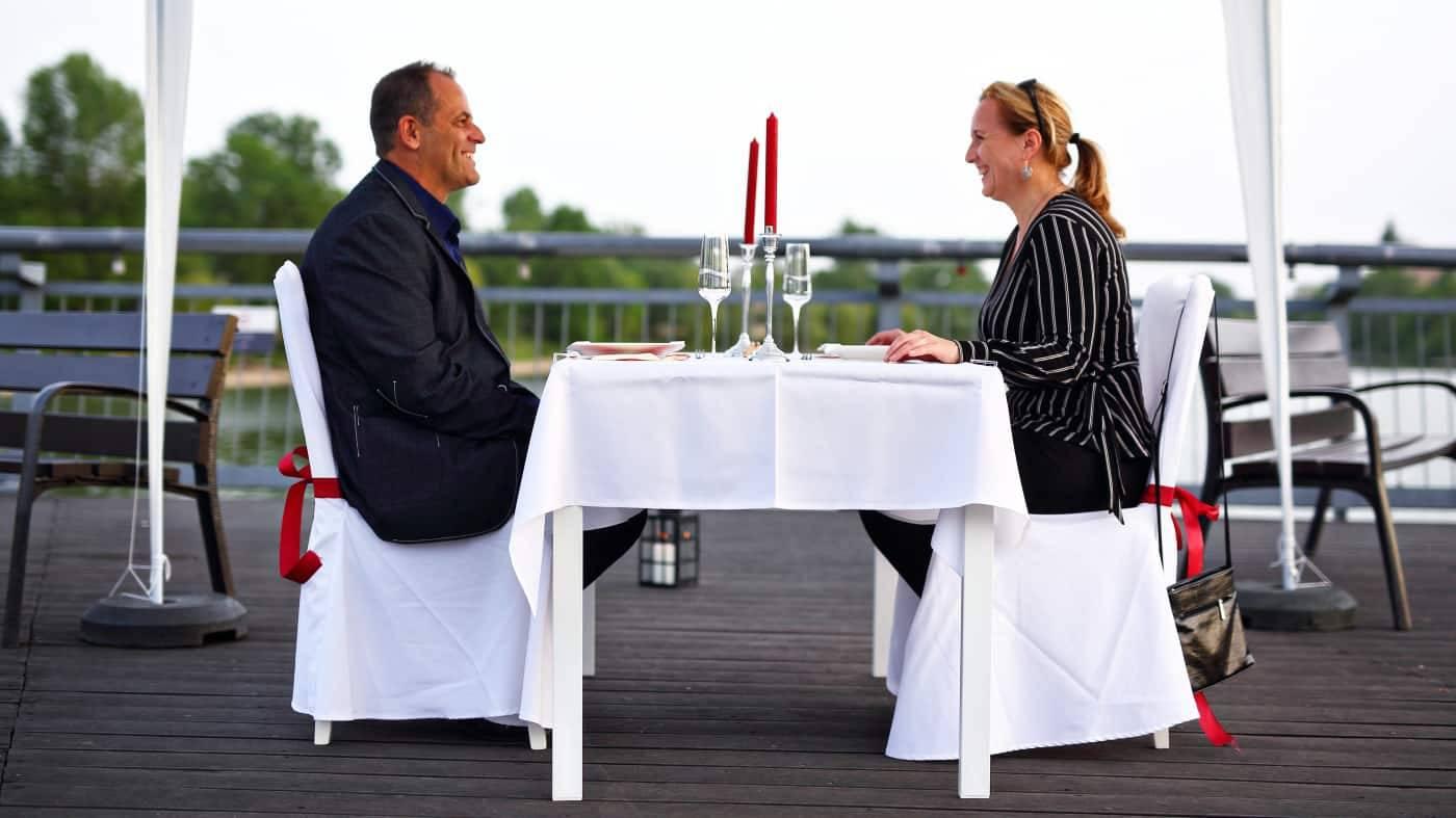 Romantikus vacsora a Kopaszi-gáton