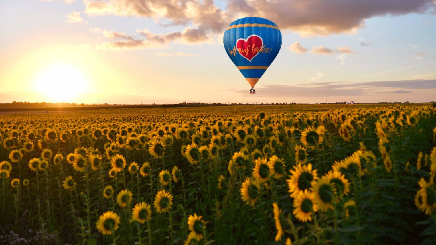 Suhanj hőlégballonnal Szolnok felett