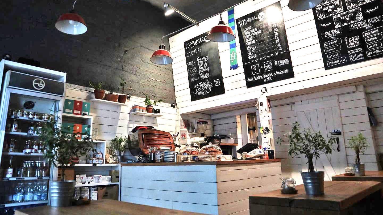 Humus/Bagel workshop Tamp & Pull Espresso Bar-ban
