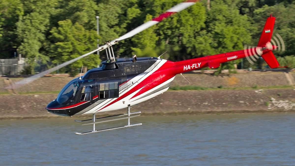 Nappali helikopterezés Budapest felett 4 utas részére BELL-206-tal