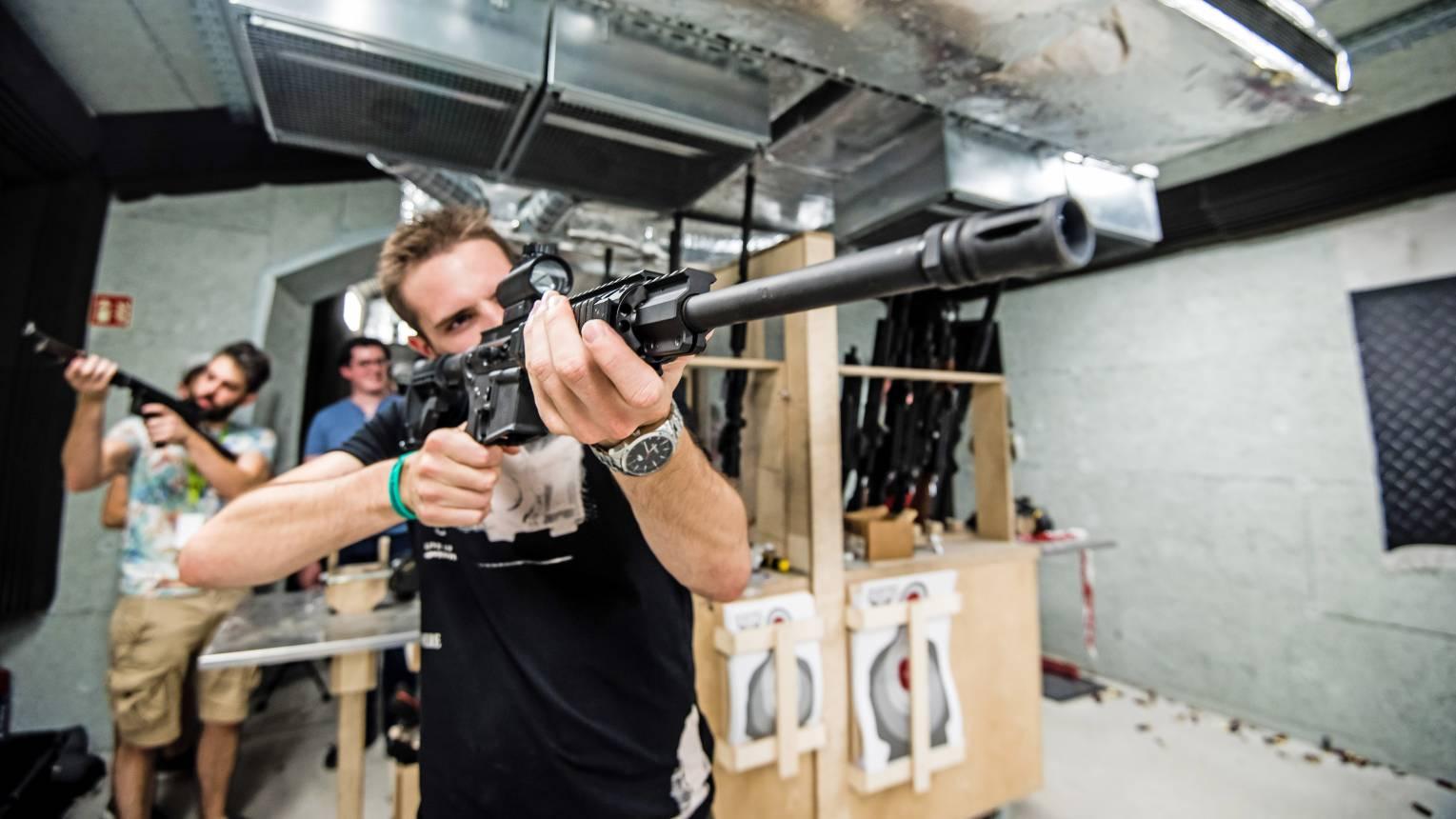 Punisher lövészet a belvárosban