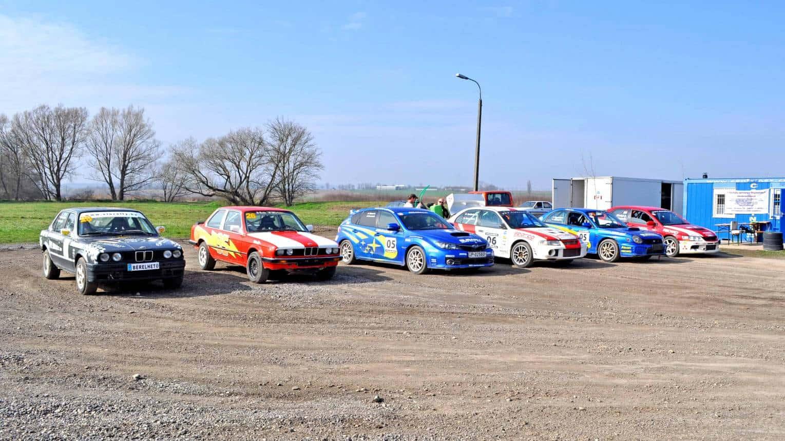Subaru és Evo rally 10 fő részére