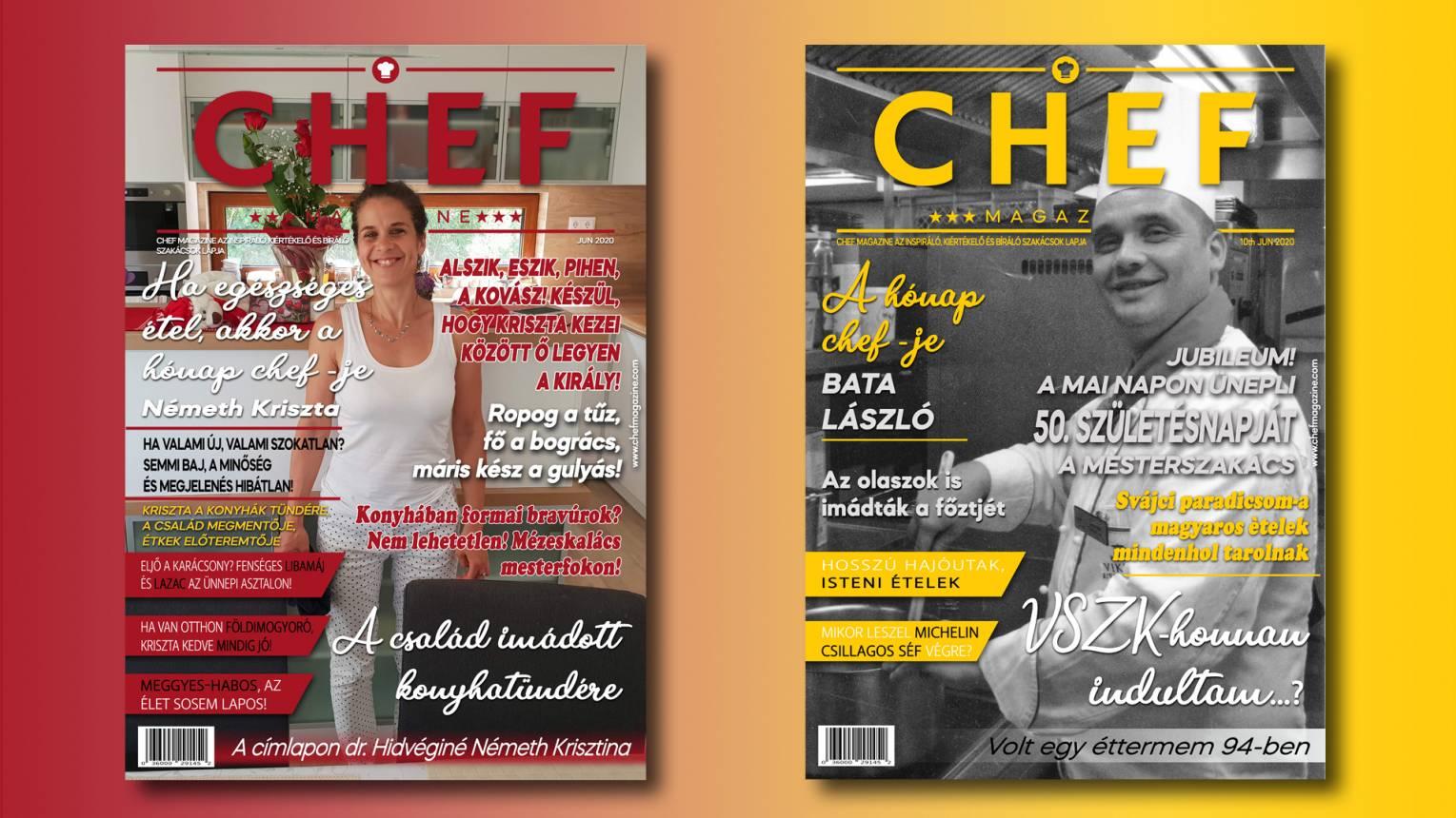 Szerepelj a Chef magazin címlapján