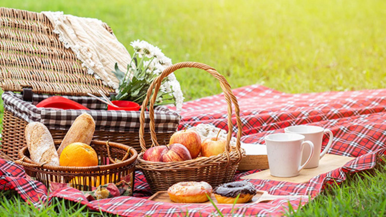 Klasszikus piknik Dobogókőn/takaró, párna, gyertya és finomságok