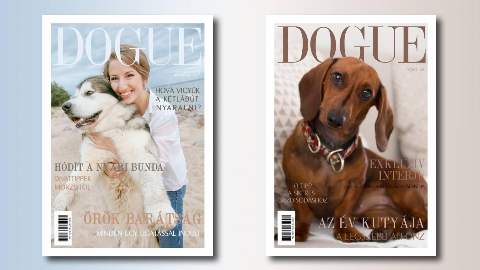 Kedvenced a DOGue címlapján