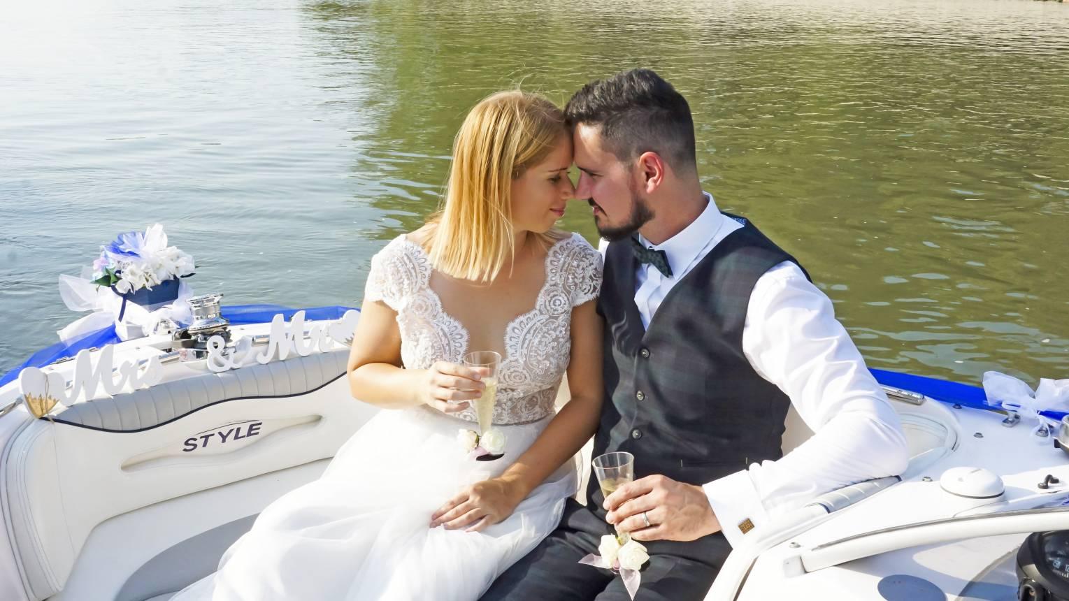 Jegyes, esküvői fotózás sétahajózással