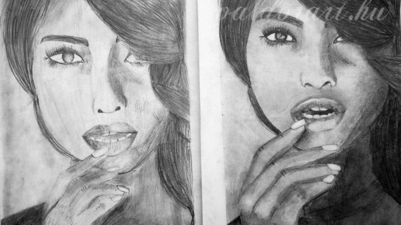 Portré rajzolás valós modell alapján, a Valdor Art Rajziskolában
