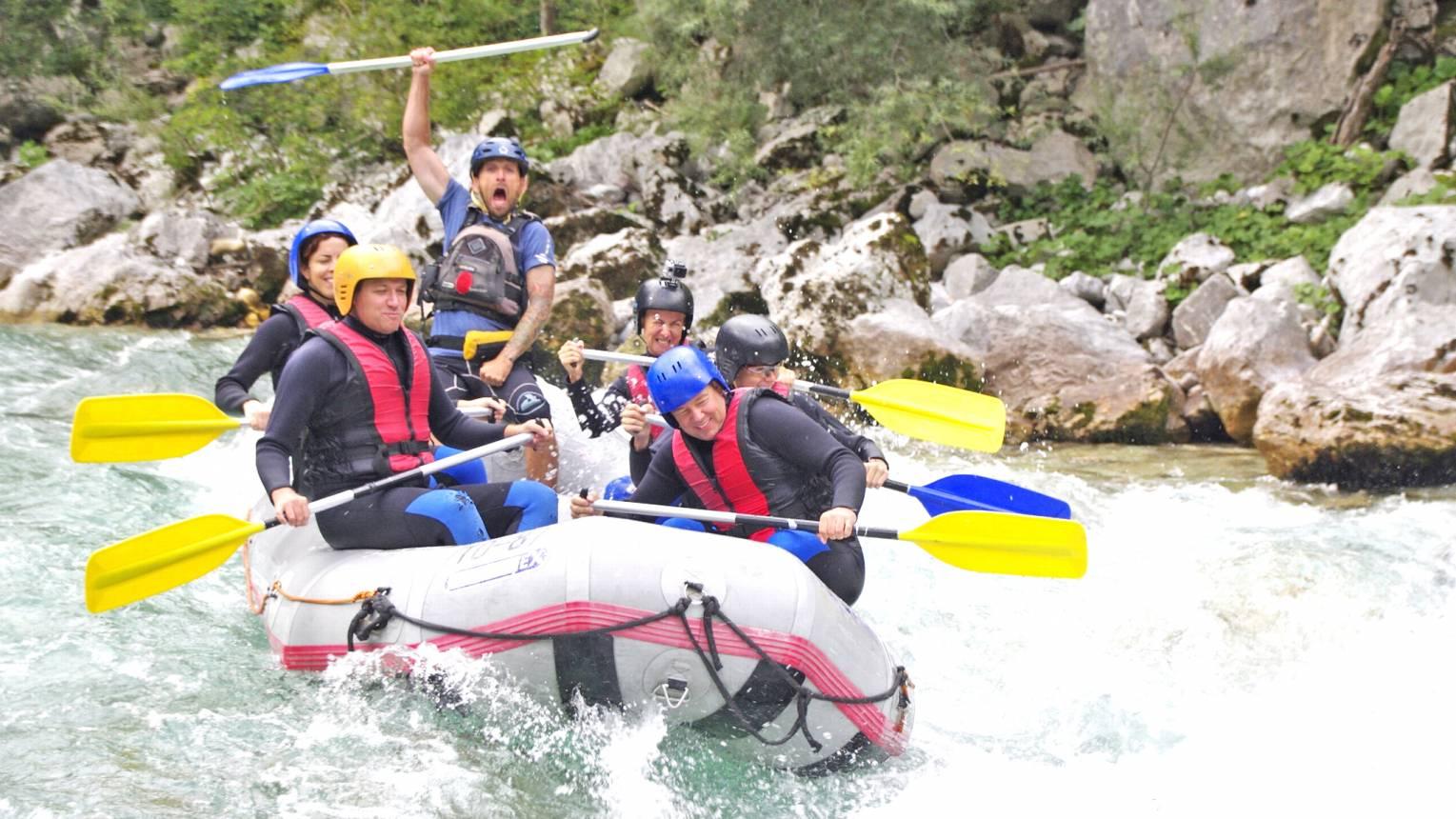 Rafting Szlovéniában 5 fő részére