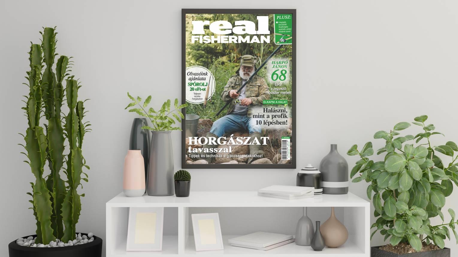 Szerepelj a Real Fisherman címlapján