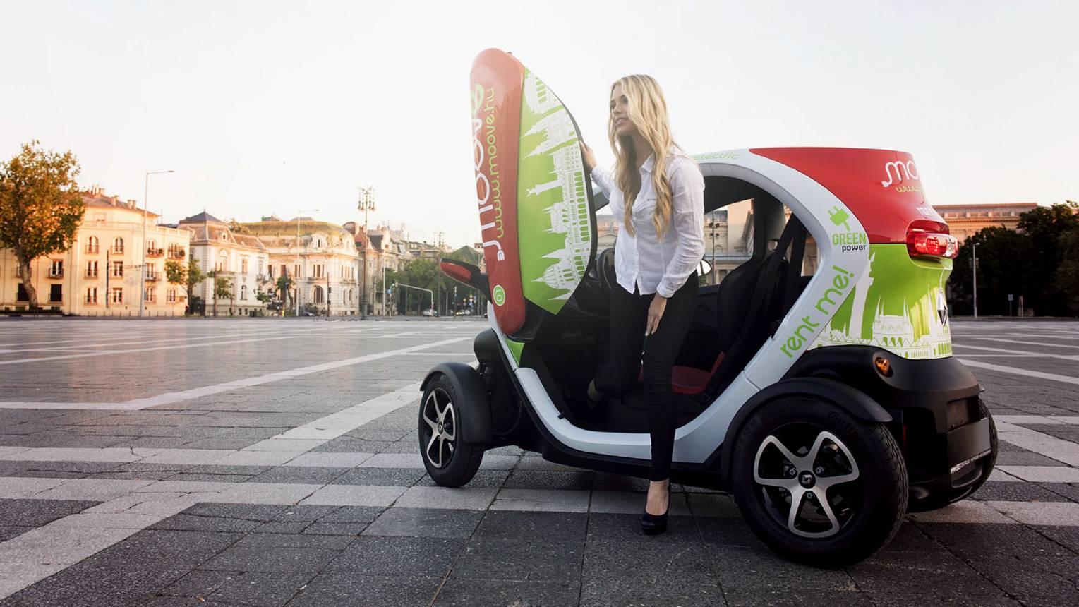 Renault Twizy bérlése akár egy órára is, jó buli