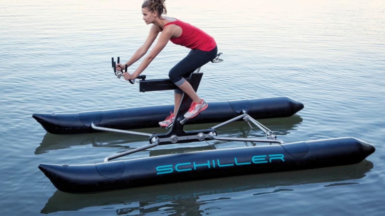 Schiller Water Bike-al Bringázás Balatonfűzfőn