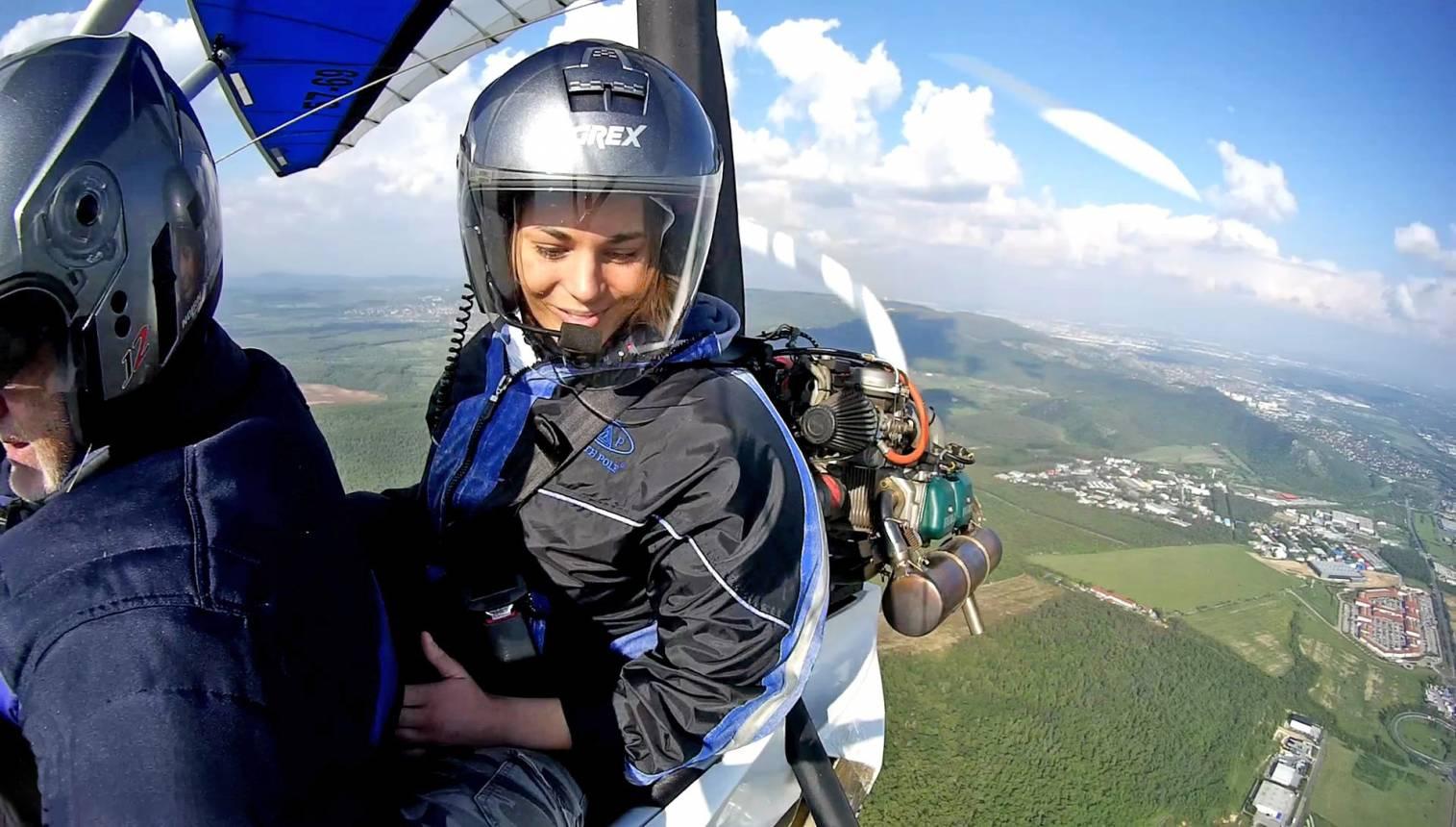 Motoros sárkánnyal Dunakanyar repülés Budakeszi felszállással