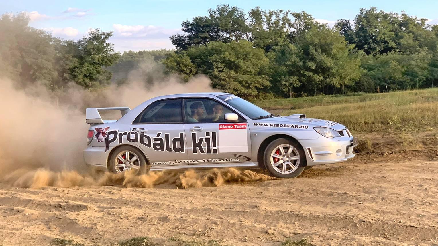 Subaru Imprezával rallyzás Nyíregyháza mellett
