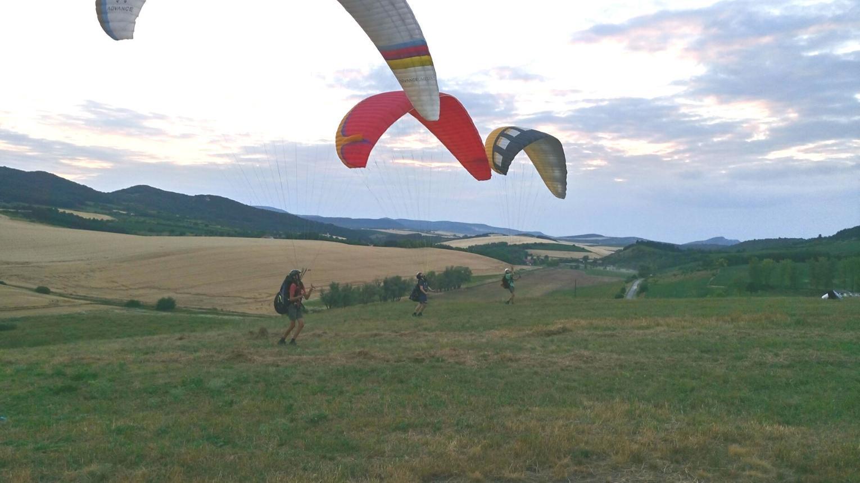 Tandem siklóernyős repülés Tata felett szuper élmény