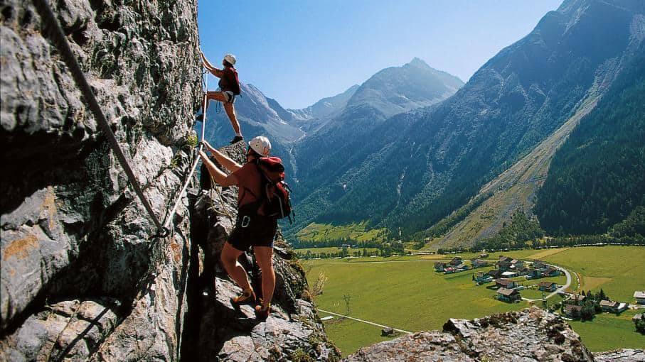 Via Ferrata speciális sziklamászás Ausztriában